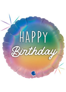ballon anniversaire, ballon hélium, ballon pour anniversaire, Ballon Anniversaire, Colourful Rainbow, en Aluminium
