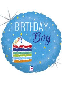 ballon anniversaire, ballon hélium, ballon garçon, ballon 1 an, Ballon Anniversaire, Birthday Boy, en Aluminium