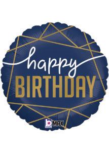 ballon anniversaire, ballon hélium, Ballon Anniversaire, Navy Birthday, en Aluminium