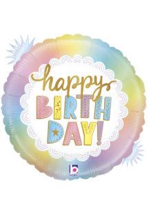 ballon anniversaire, ballon hélium, ballon pour anniversaire, Ballon Anniversaire, Opale, en Aluminium