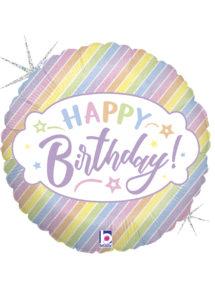 ballon anniversaire, ballon hélium, ballon pour anniversaire, Ballon Anniversaire, Pastel Birthday, en Aluminium