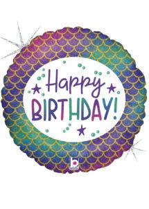 ballon anniversaire, ballon hélium, ballon pour anniversaire, Ballon Anniversaire, Sirène, en Aluminium