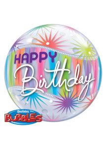 ballon anniversaire, ballon hélium, ballon bubbles anniversaire, Ballon Anniversaire, Bubble Transparent, Sorbet