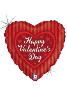 ballon coeur, ballon hélium, ballon saint Valentin, ballon mylar, ballon à l'hélium, ballons coeurs, ballon coeur rouge, ballon saint valentin, Ballon Coeur, Happy Valentine's Day, en Aluminium