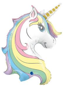 ballon hélium, ballon licorne, ballon anniversaire, Ballon Licorne Pastel, en Aluminium