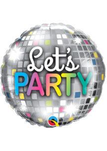 ballon hélium, ballon party, ballon anniversaire, Ballon Let's Party Disco, en Aluminium