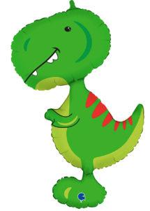 ballon dinosaure, ballon hélium, ballons animaux, Ballon Dinosaure Rigolo, en Aluminium