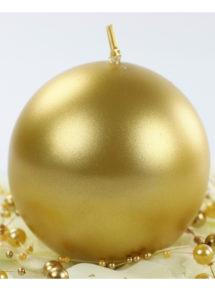 bougie ronde, bougie de décoration, belle bougie, bougie dorée, Bougie de Décoration, Ronde, 8 cm, Dorée