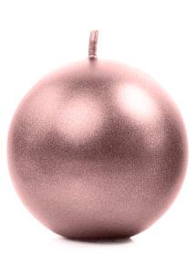 bougie ronde, bougie de décoration, belle bougie, bougie rose gold, Bougie de Décoration, Ronde, 8 cm, Rose Gold