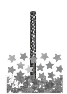 canon à confettis étoiles, canon confettis argent, canons à confettis, Canon à Confettis, Etoiles Argent, 60 cm