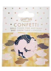confettis table baby shower, confettis baby shower revelation gender, Confettis de Table Baby Shower Révélation