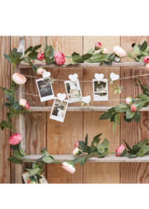guirlande pivoine, guirlande fleurs, guirlande feuilles, Guirlande de Feuilles et de Fleurs Roses