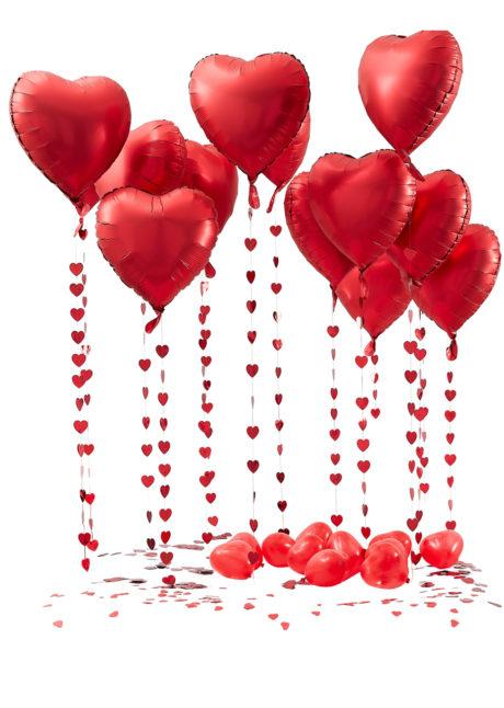 kit décor ballons coeurs, bouquet de ballons coeurs, 1 Kit Décor Bouquet de Ballons Coeurs Rouges