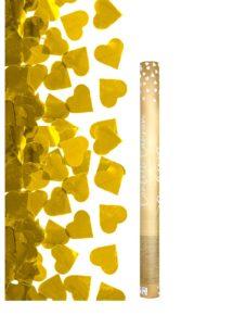 canon à confettis coeurs dorés, canon confettis coeurs, Canon à Confettis, Coeurs Dorés Métal, 60 cm