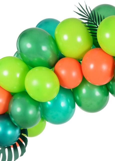 arche de ballons multicolores, arches de ballons, décorations ballons, Arche Guirlande de Ballons Oranges et Verts