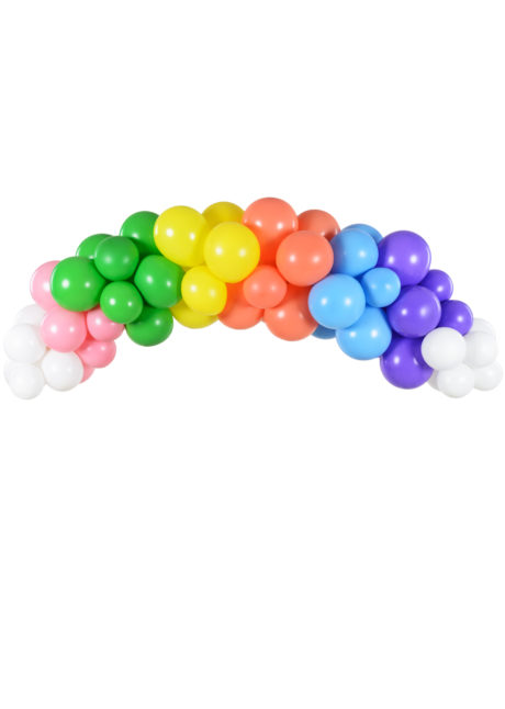 arche de ballons multicolores, arches de ballons, décorations ballons, Arche de Ballons Arc en Ciel, Kit Complet