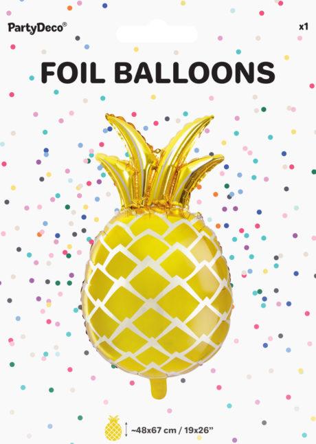 ballon ananas, ballon hélium, ballon aluminium, ballon tropical, Ballon Ananas Tropical, en Aluminium