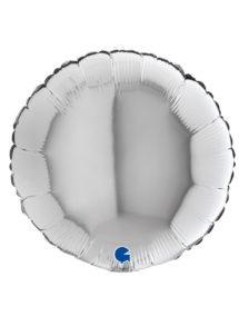 ballon argent aluminium, ballon hélium, Ballon Rond Argent, en Aluminium