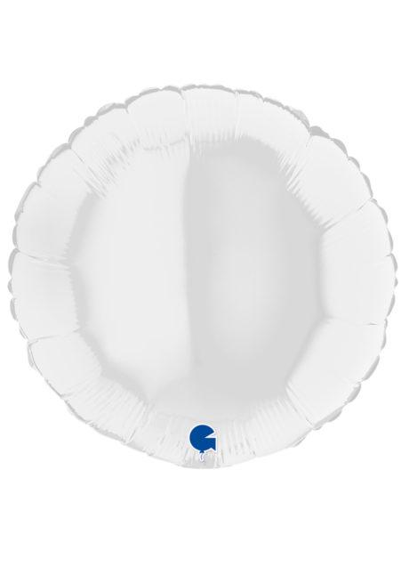 ballon hélium, ballon blanc, ballon aluminium, Ballon Rond Blanc, en Aluminium