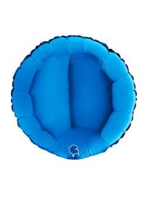 ballon bleu, ballon hélium, ballon aluminium, Ballon Rond Bleu, en Aluminium