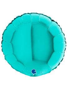 ballon bleu, ballon hélium, ballon aluminium, Ballon Rond Bleu Lagon, en Aluminium