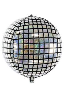 ballon boule disco, ballon boule à facettes, ballon hélium, Ballon Boule à Facettes Disco, en Aluminium