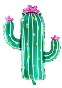 ballons hélium, ballon cactus, ballon aluminium, décorations mexicaines, Ballon Cactus Mexicain, Fleurs Roses, en Aluminium
