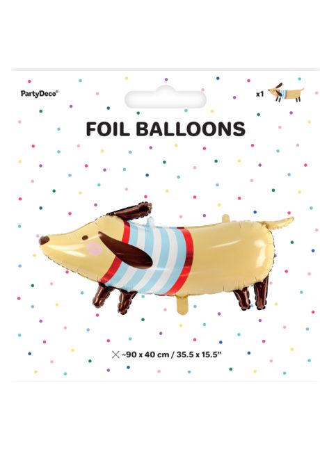ballon hélium, ballon chien, ballon aluminium, ballon enfant, Ballon Chien, Lulu le Basset, en Aluminium