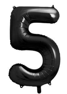 ballon chiffre, ballon alu chiffre, ballon chiffre 5 noir, Ballon Chiffre 5, Noir, 86 cm