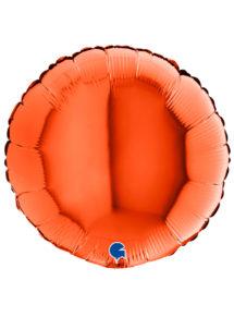 ballon orange aluminium, ballon hélium, Ballon Rond Orange, en Aluminium