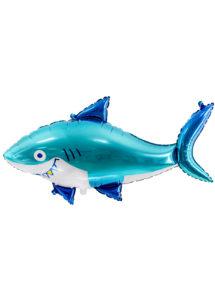 ballon requin, ballon hélium, ballon anniversaire, ballon poisson, Ballon Poisson Requin Malin, en Aluminium