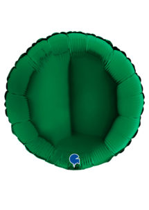 ballon vert foncé, ballon hélium, vert sapin, Ballon Rond Vert Foncé, en Aluminium