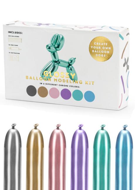 ballons à modeler, ballons à sculpter, ballons enfants, ballons anniversaire, anniversaire enfant, 1 Kit Ballons Miroirs à Modeler, pour Sculptures de Ballons