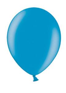 ballons bleus, ballons baudruche, ballons hélium, Ballons Bleu Caraïbes Métal, en Latex, x 10 ou x 50