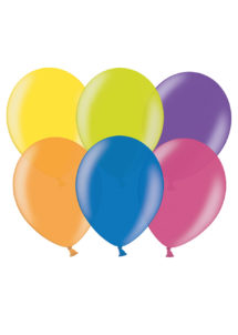 ballons hélium, ballons de baudruche, ballons en latex, Ballons Multi Couleurs Métal, en Latex, x 10 ou x 50
