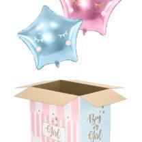 boite à ballons babyshower, carton pour ballons surprises, baby showers