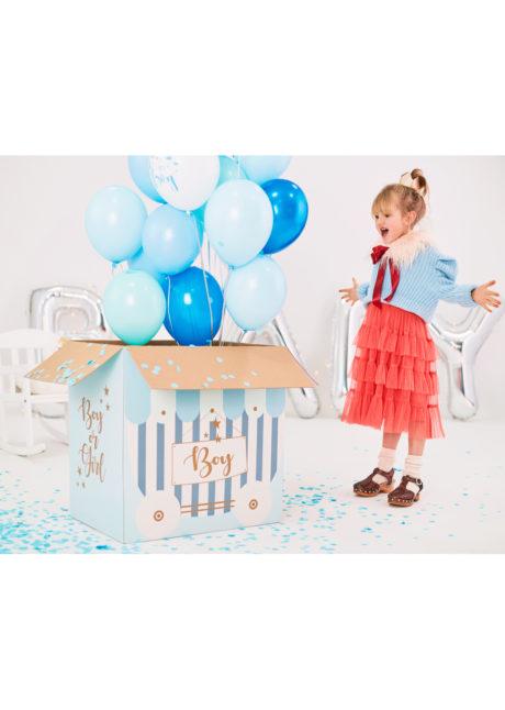 boite à ballons babyshower, carton pour ballons surprises, baby showers, Boite à Ballons Surprise pour Baby Shower