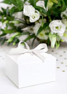 boite cadeau, boite dragée, bonbonnière, sachet cadeau, Boites Cadeaux Blanches, Elegant Box, x 10