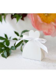 boite cadeau, boite dragée, bonbonnière, sachet cadeau, Boites Cadeaux Blanches, Nuage Box, x 10