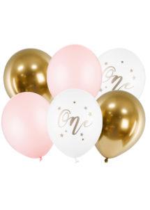 bouquet ballons, anniversaire 1 an, ballons anniversaires, ballons baudruche, ballon héium, 1 Bouquet de Ballons Anniversaire 1 an, Fille, en Latex