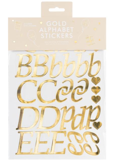 lettres autocollantes, tickets lettres, lettres dorées, Lettres Autocollantes Dorées, pour Décorations et Ballons