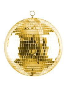 boule disco dorée, boule disco, décorations disco, décos année 80, boules discos, boules à facettes,, Boule à Facettes, Boule Disco Dorée XL