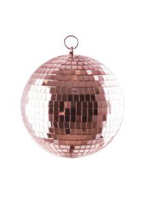 boule disco, décorations disco, décos année 80, boules discos, boules à facettes,, Boule à Facettes, Boule Disco Rose Gold