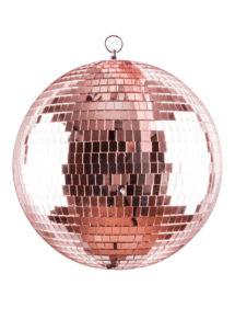 boule disco rose gold, boule disco, décorations disco, décos année 80, boules discos, boules à facettes,, Boule à Facettes, Boule Disco Rose Gold XL