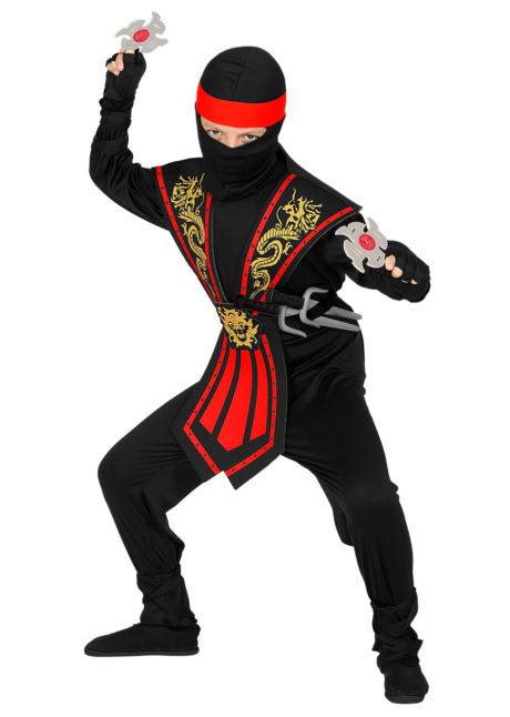déguisement de ninja enfant, déguisement ninja garçon, déguisement enfant, déguisements pour garçon, déguisement ninja carnaval, Déguisement de Ninja Noir et Rouge, Garçon