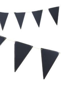 guirlande fanions, guirlande noire, guirlande pirate, Guirlande Fanions Festonnés, Noire et Or