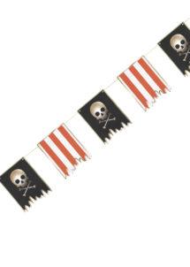 guirlande pirates, guirlande fanions pirates, guirlande décoration pirate, Guirlande de Pirate, Fanions Noirs et Rouges