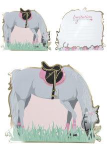 cartes invitations anniversaires, cartes d'invitations, anniversaire cheval, anniversaire filles, Cartes d'Invitation Cheval, Lovely Moments