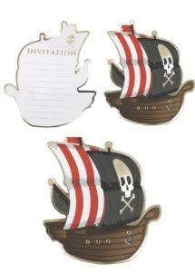 cartes invitations anniversaires, cartes d'invitations, anniversaire pirate, Cartes d'Invitations Pirates