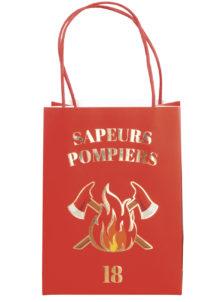 sac cadeau pompiers, sachet cadeau anniversaire, sacs à bonbons, sachets bonbons anniversaires, Sacs Cadeaux Pompiers